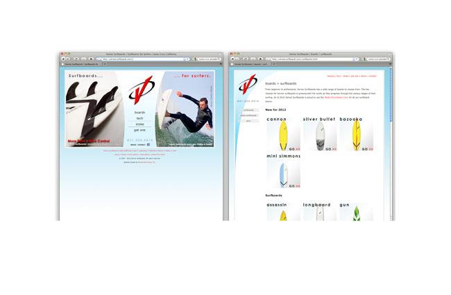 Vernor Surfboards website
